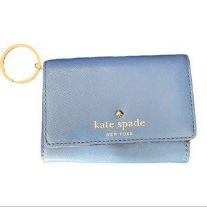 Kate Spade Blue Key Ring, Cardholder, Coin Purse